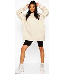 extreme oversized hoodie, ecru