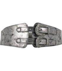 cinturón elástico ancho doble gris mailea