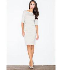 sukienka melrose m202 beżowa