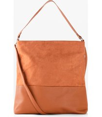 borsa shopper in similpelle scamosciata (marrone) - bpc bonprix collection