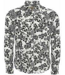 camisa manga longa aes 1975 floral masculina