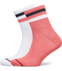 th jeans quarter 2p stripe underwear socks regular socks rosa tommy hilfiger
