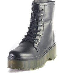 botas cuero negro m&m 45