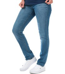 womens 724 high rise straight sapphire dust jeans