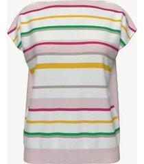 tommy hilfiger women's essential stripe sweater t-shirt bright white multi - l