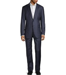 modern-fit textured wool suit