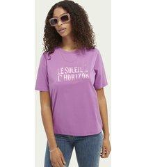 scotch & soda katoenen t-shirt met grafische print