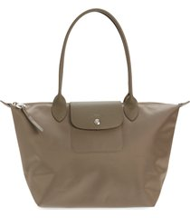 longchamp small le pliage tote - brown