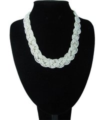 collar artesanal blanco sasmon cl-12374