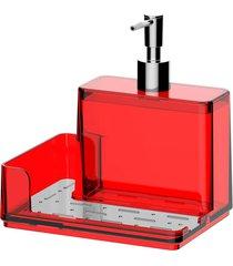 organizador de pia brinox poliestireno suprema 500ml vermelho