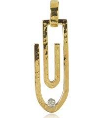 torrini designer necklaces, clips - 18k yellow gold pendant with diamond