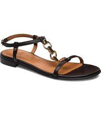sandals 4141 shoes summer shoes flat sandals svart billi bi