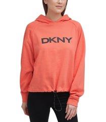 dkny sport women's graphic hoodie