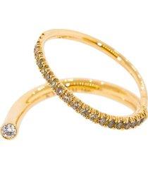 kat kim 18kt rose gold diamond crescendo flare ring