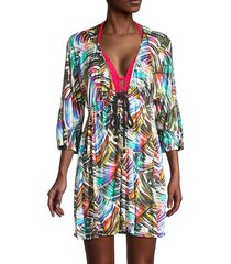 printed cotton tunic coverup