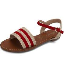 sandalia dama rojo tellenzi l-185