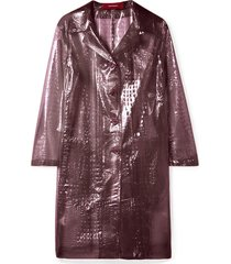 croc-effect plastic coat