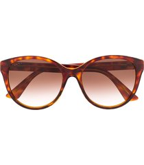 gucci eyewear gg0631s soft-round sunglasses - brown