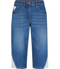 bermuda di jeans con pizzo (blu) - bpc bonprix collection