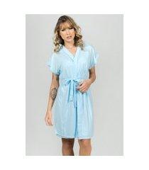 camisola amamentação com robe bella fiore modas azul claro