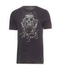 camiseta masculina wasted souls - preto