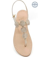 fari di capri 5c jewel thong sandals