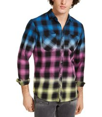 inc men's multicolored plaid shirt, created for macy's