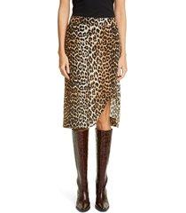 ganni leopard print skirt, size 6 us at nordstrom