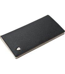 billetera, cruzada de paja con forma de cartera larga-negro