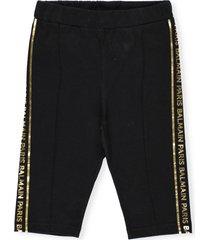 balmain stretch cotton shorts