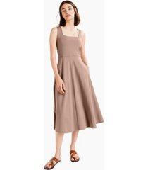 alfani solid square-neck midi tank dress, created for macy's