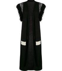 andrea bogosian colete rosalia de tricô - preto