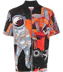 astronaut knit polo top