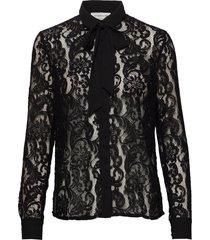 shirt ls blouse lange mouwen zwart rosemunde