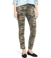 women's mavi jeans juliette camo print military cargo pants, size 31 - green