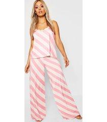 plus gemma collins pyjama set met hemdje en kanten afwerking, roze