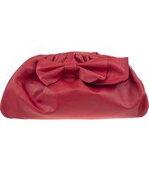 red valentino maxi bow clutch