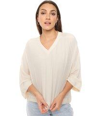 blusa beige asterisco fedra