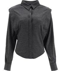 isabel marant galki shirt in wool jersey