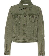 jackets indoor woven jeansjacka denimjacka grön edc by esprit