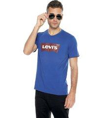 camiseta azul-rojo-blanco levis