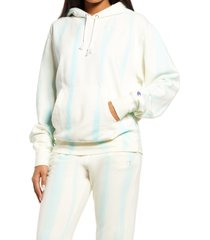 champion women's tie dye hoodie, size small in feather dye chalk white at nordstrom