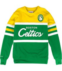 mitchell & ness boston celtics men's head coach crew sweatshirt