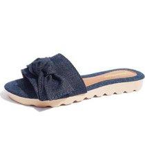 chinelo rasteira gomes shoes feminino jeans confortável - feminino