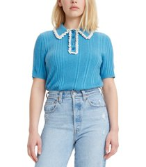 levi's short-sleeved polo sweater