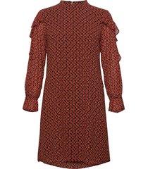 dress woven fabric kort klänning röd taifun