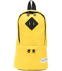 mostly heard rarely seen one shoulder backpack - yellow