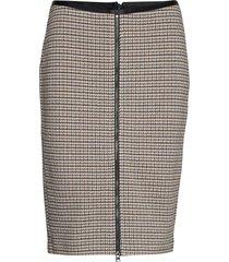 skirt short woven fa kort kjol brun gerry weber