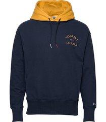 tjm contrast hood hoodie hoodie trui blauw tommy jeans