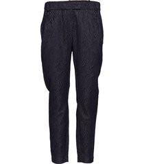pants in wave jacquard stretch - ju pantalon met rechte pijpen zwart coster copenhagen